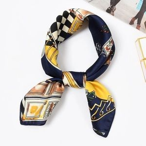 Silky scarf head neck purse